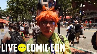 Live From Comic-Con   Weirdly Awesome Cosplay - Day 2   Syfy - SYFY