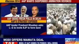 AAP seeks fresh polls in Delhi - NEWSXLIVE