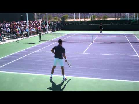 Novak Djokovic Practice Movement 2012 BNP Paribas HD!