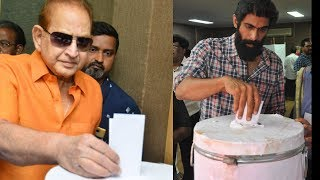 Rana Daggubati , Super Star Krishna Together At #MAA Elections For Casting Vote - RAJSHRITELUGU