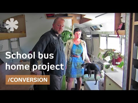 School bus becomes off-grid, transformable, tiny home [video]