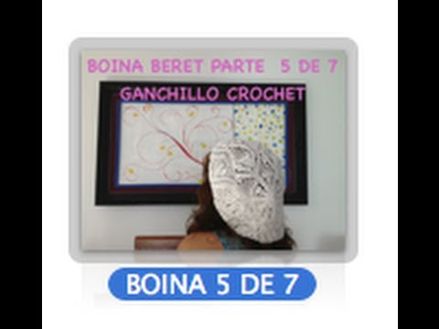5 DE 7 COMO TEJER GORRO BOINA DISEO PIAS GANCHILLO CROCHET, DIY TUTORIAL