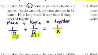 How to Solve Algebra Word Problems: Work - YouTube