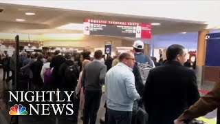 Food Banks, Closed TSA Checkpoints, Second Jobs; Gov't Shutdown Enters 24th Day | NBC Nightly News - NBCNEWS