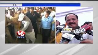 Minister Venkaiah Naidu participation in Modi Swachh Bharat - V6NEWSTELUGU