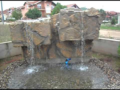 Artificial waterfall in Macedonia, Fontani Makedonija