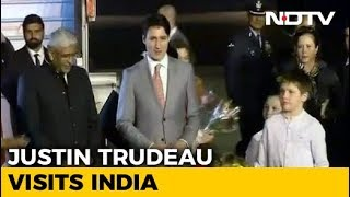 Canada PM Justin Trudeau Welcomed In Dehi - NDTV