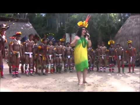 Hino Nacional Brasileiro - Jordana e Índios Kuikuros do Alto Xingu