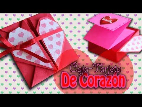 Carta de CORAZÓN, plegable ((Para San Valentín))