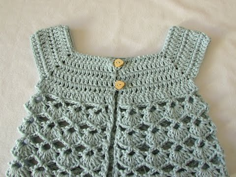 How to crochet a little girl's lace cardigan / sweater