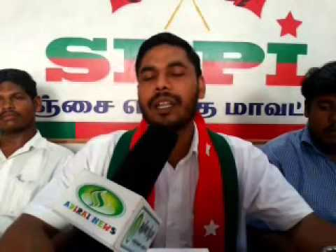 SDPI press meet in adirai 15-04-2014