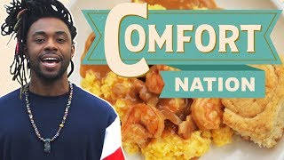 Shrimp and Grits in South Carolina 🍤 COMFORT NATION - FOODNETWORKTV