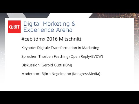 "#cebitdmx: Keynote ""Digitale Transformation in Marketing"""
