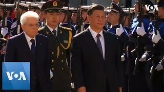 Chinese President Xi Jinping Welcomed to Italy at Start of Three-Day Visit - VOAVIDEO