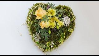 Флористика Сердце Своими Руками Свадьба День валентина Heart hand made Wedding Valentine's Day