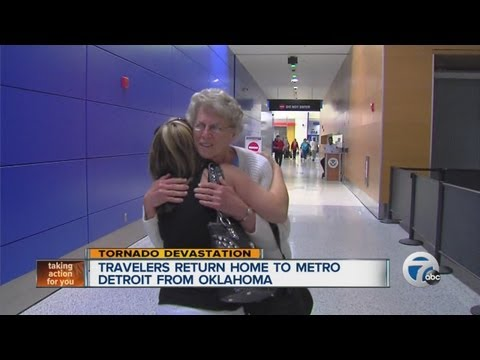 Travelers return home to metro Detroit from Oklahoma