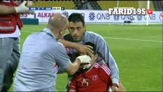 شجار بين حسين خرجة ونيني في كأس نجوم قطر