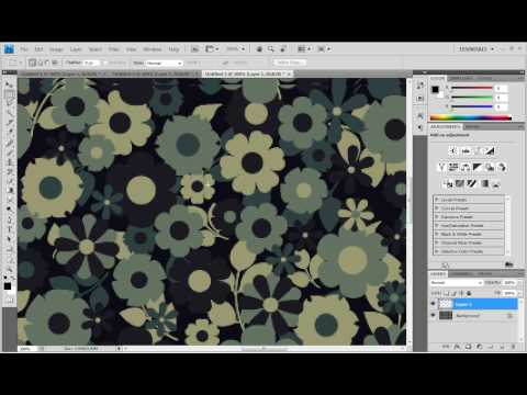 Tutorial: How to create patterned wallpaper. Photoshop tutorial [Iglor0]