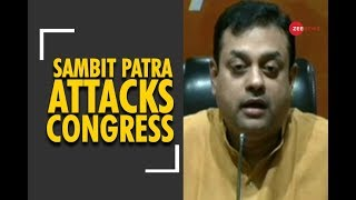 """Sambit Patra: """"Congress has decided to play the role of suicide bomber"""" - ZEENEWS"""