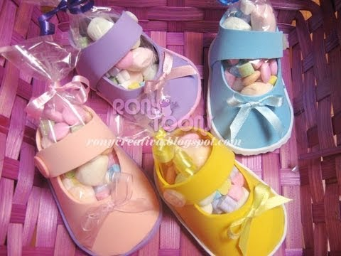 ZAPATITOS BABYSHOWER PARA NIÑA / BABYSHOWER CANDY SHOE