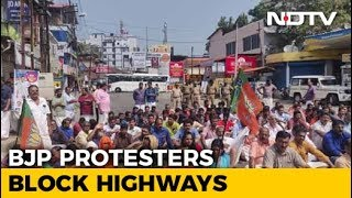 Protesters Block Kerala Highway As BJP Calls It Day Of Sabarimala Protest - NDTV