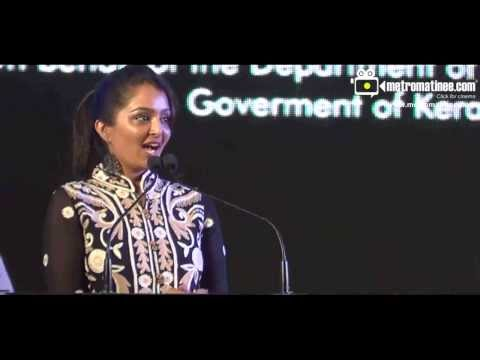 IFFK 2013  - Manju Warrier Full Speech