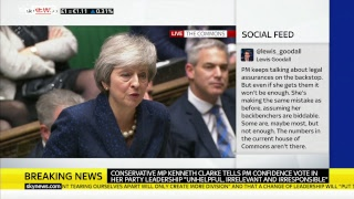 PMQs: May faces Corbyn after confidence vote triggered - SKYNEWS