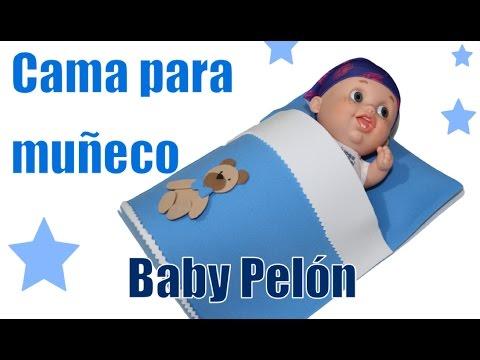 Cama de goma Eva para muñecos Baby Pelones