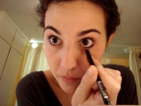 Lápis de olho, embaixo