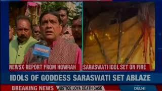 Bengal: Pooja Pandal and idols of Goddess Saraswati vandalised in Dasnagar, Howrah - NEWSXLIVE