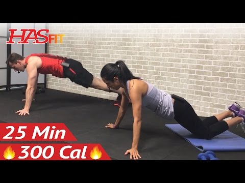25 Min Chest and Tricep Workout at Home for Women & Men - Chest and Triceps Exercises Chest and Arms