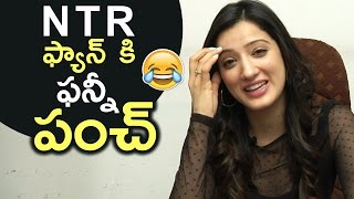 Actress Richa Panai Funnny Punch To Jr NTR Fan Question | Very Funny | TFPC - TFPC