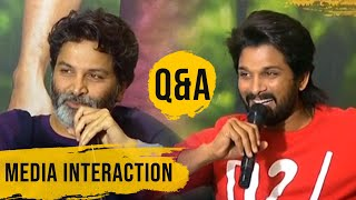 Allu Arjun and Trivikram Hilarious Answers To Media Questions | Ala Vaikunthapurramuloo - TFPC