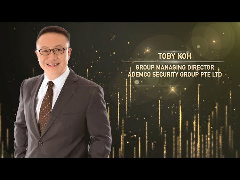 Mr Toby Koh - Overall winner of Entrepreneur of Year Award 2017