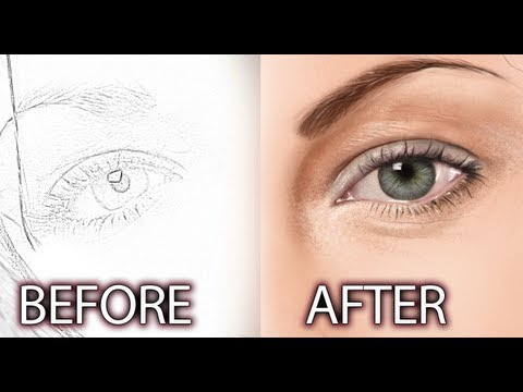Photoshop Digital Painting Tutorial - Realistic Eyes Part 1