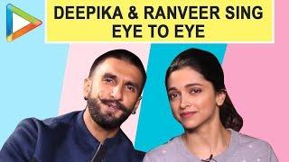 Cute Couple Deepika Padukone & Ranveer SIngh sing the viral song EYE TO EYE - HUNGAMA