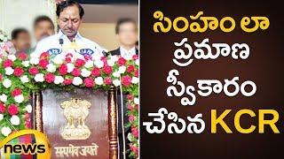 KCR sworn in as Telangana CM at Raj Bhavan | KCR Oath Taking Ceremony as Chief Minister | Mango News - MANGONEWS