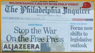 🇺🇸 Hundreds of US newspapers denounce Trump's attacks on the press | Al Jazeera English - ALJAZEERAENGLISH