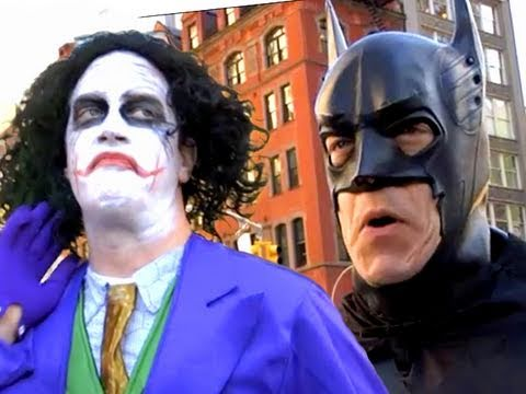 Batman vs Joker in New York!