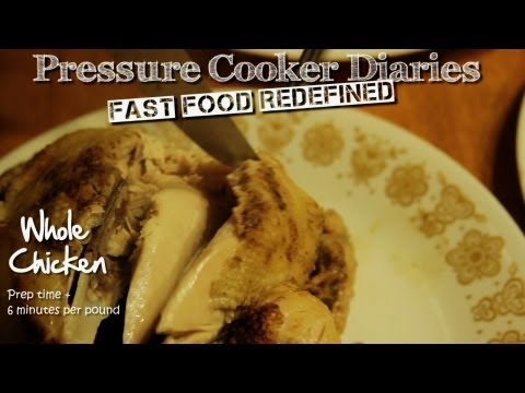 "How to ""Roast"" a Chicken - 25 min Cooked/""Roast"" Chicken Pressure Cooker Recipe"