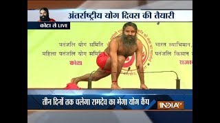 Baba Ramdev conducts Yoga camp in Rajasthan's Kota - INDIATV