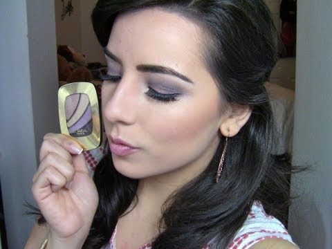 NEW L'oreal Colour Riche Eyeshadow Quad First Impression Review + Demo.