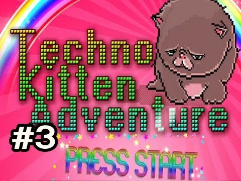 Techno Kitten Adventure: Indie Game w/Nova #3 Cloud Pack
