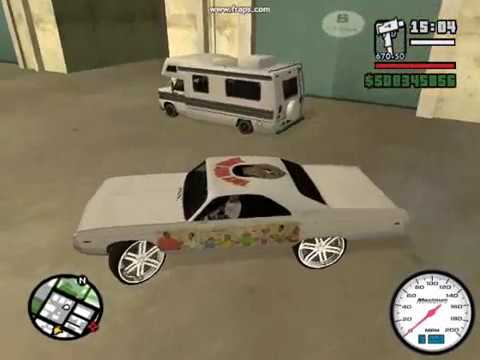 GTA SAN ANDREAS BOX CHEVY DONK MOD PART 3 LOUIS VUITTON RIMS