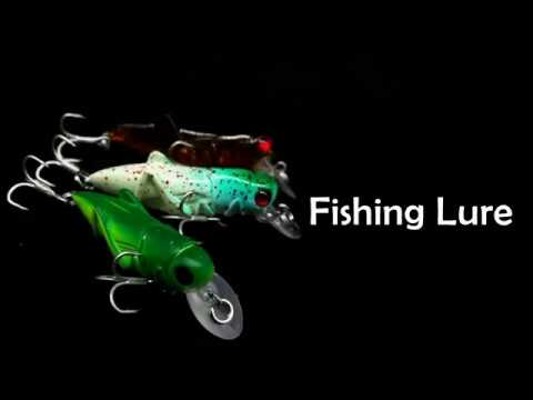 Hard Fishing Lure Bait with Treble Hook for Bass Trout