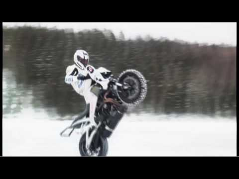 Buell on Ice Stunts