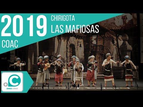 La agrupación Las mafiosas llega al COAC 2019 en la modalidad de Chirigotas. Primera actuación de la agrupación para esta modalidad.