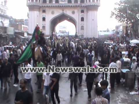 Bibi Ka Alam procession for Moharram 2012 from old city of Hyderabad