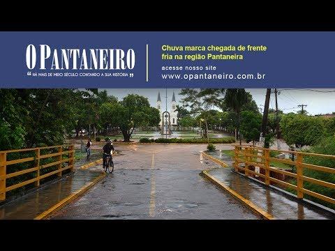 Chuva marca chegada de frente fria na região Pantaneira