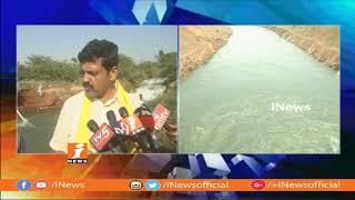 TDP MLA Suryanarayana Inspects Jeedipalli Reservoir Canal | iNews - INEWS
